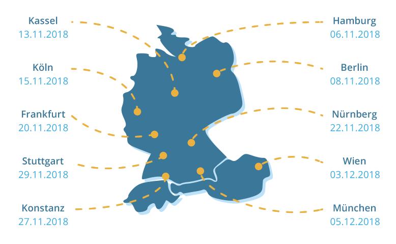 Speichertage Tour 2018 Termine und Locations Karte
