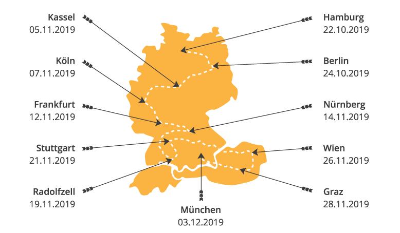 Speichertage 2019 Termine und Locations Karte