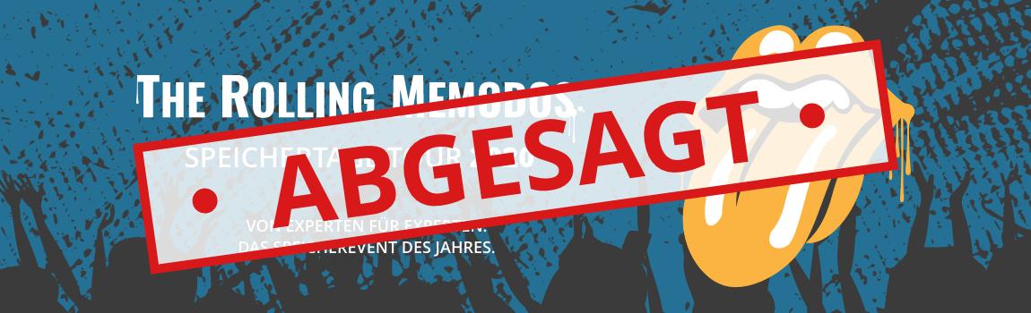 Memodo Speichertage 2020 abgesagt Banner